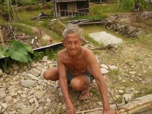 Villager in Sabah during Lun Bawang