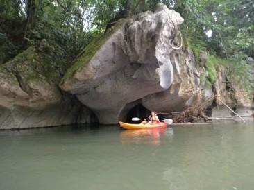 Kayaking in the Sarawak River