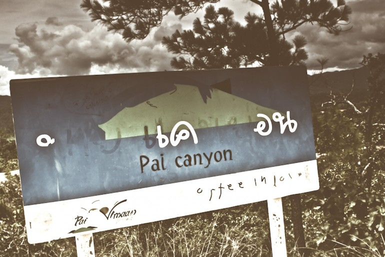 Sign at Pai canyon