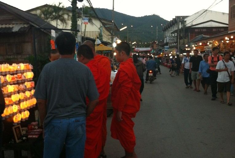monks at walking street