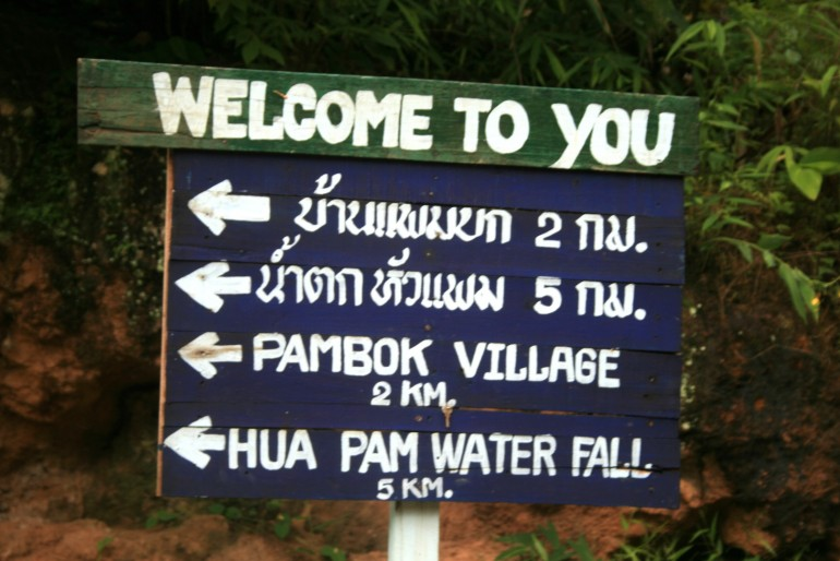 signs to local villages