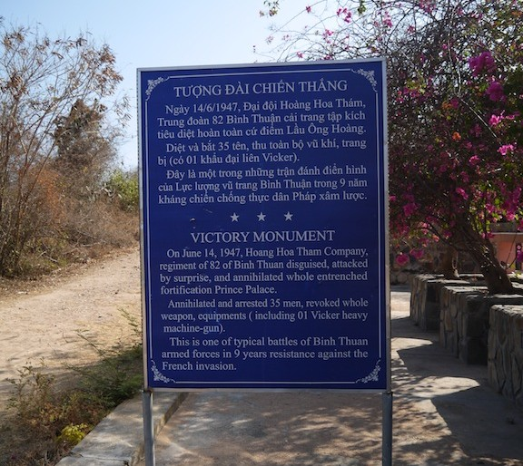 Information board for Victory Monument