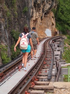 Walking along the railway of death
