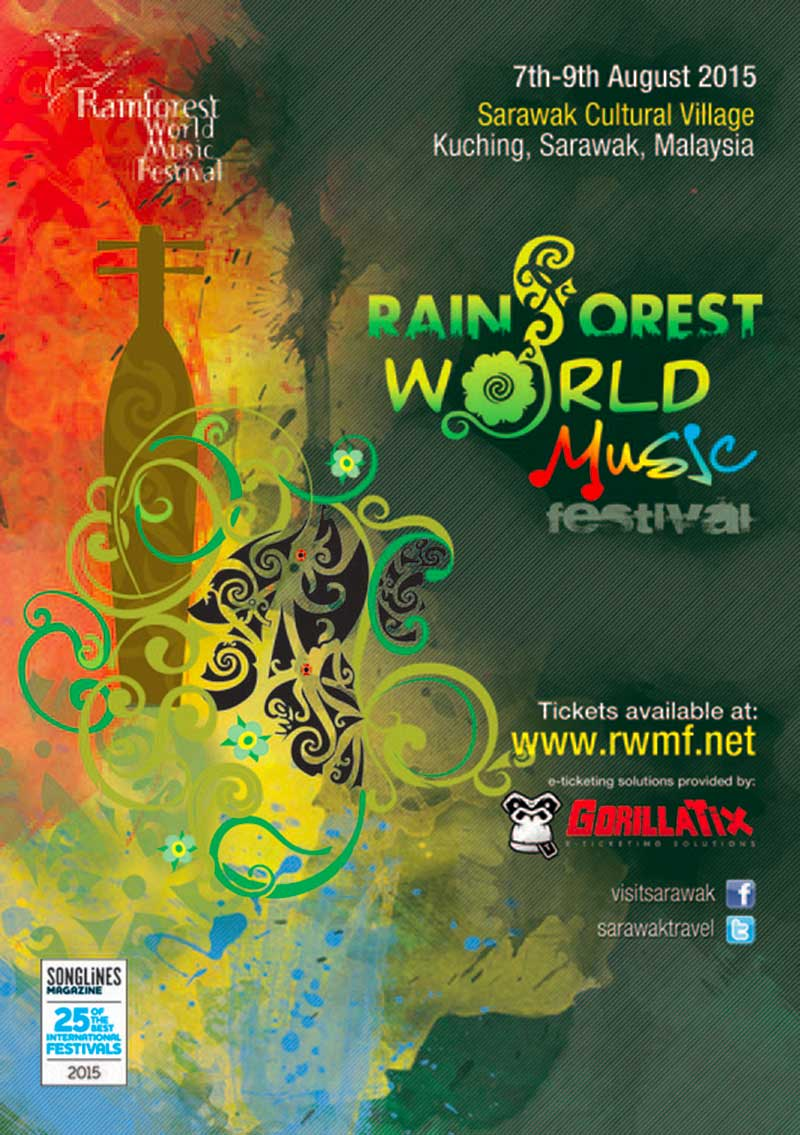 The 18th Rainforest World Music Festival Asian Itinerary