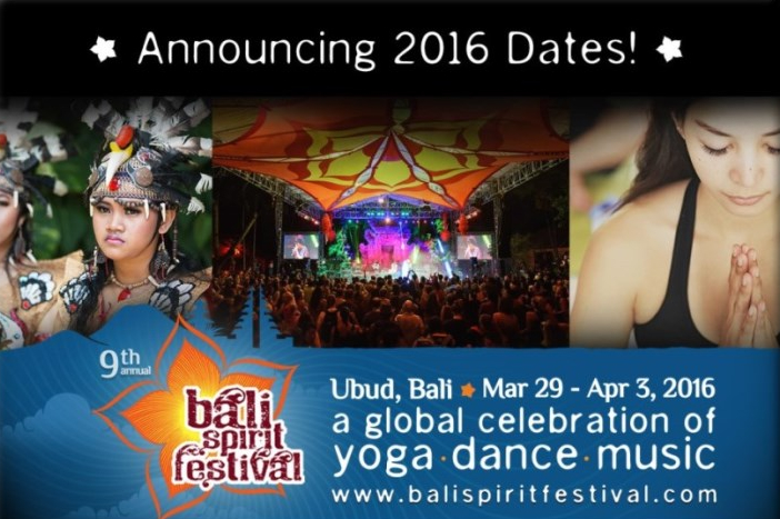 BaliSpirit Festival 2016 dates announced