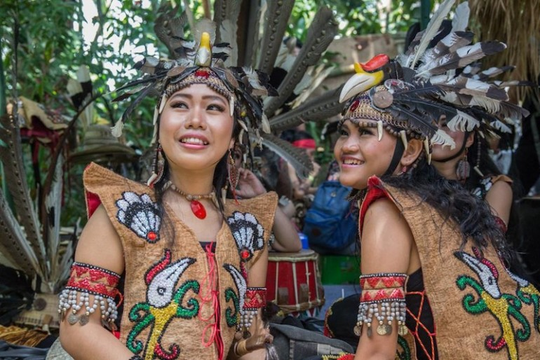 Borneo tribal women