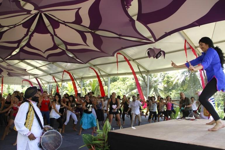 Dancing at Sarina Jain Masala class