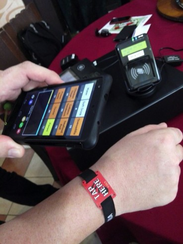 Cashless payment system at RWMF 2015