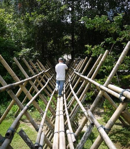 Bidayuh bamboo bridge