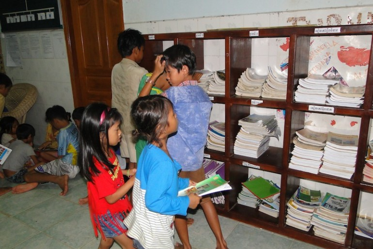 Free learning for the kids at the center