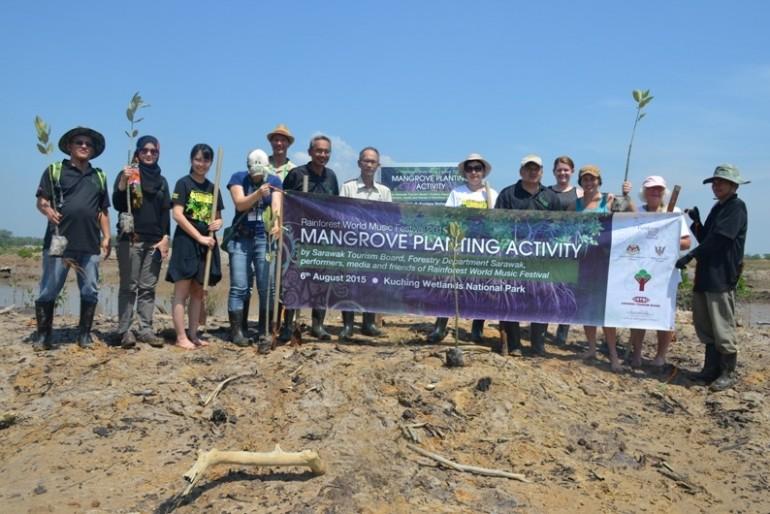 Tree planting at Kuching Wetlands National Park