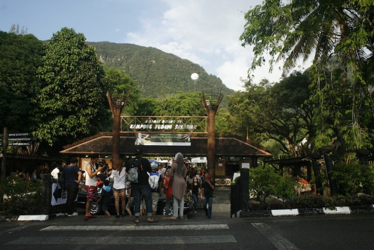 Main entrance during Rainforest World Music Festival