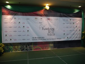 Rainforest World Music Festival banner