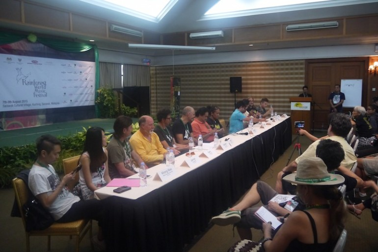 last day press conference at Rainforest World Music Festival