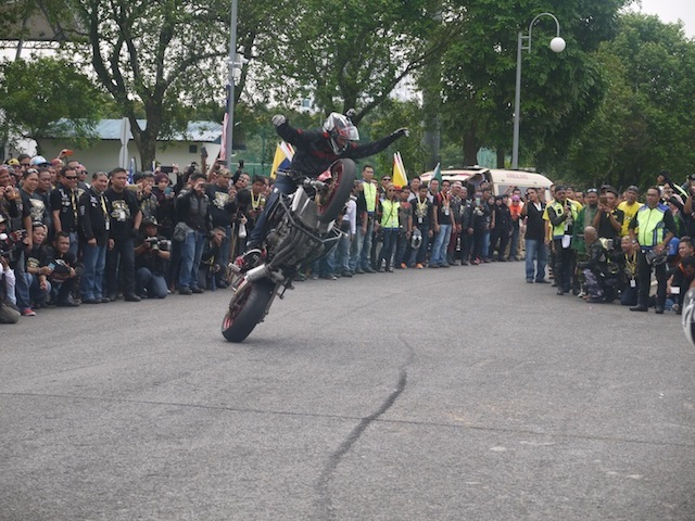 One of Aaron stunts