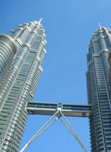 The Petronas Towers in their full splendour