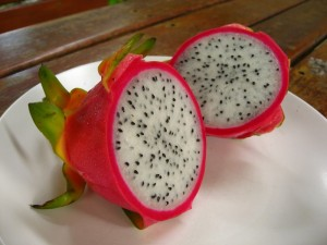 white variety of dragon fruit
