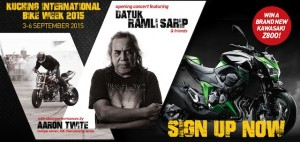 Kuching International Bike Week banner