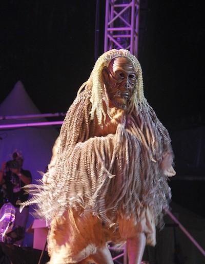 Orang Asli mask and decoration clothes