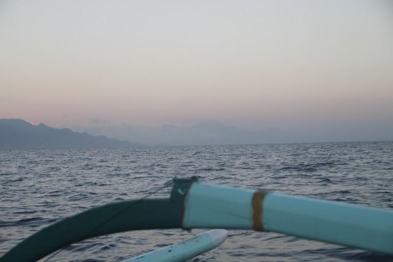 Java volcanoes in the distance