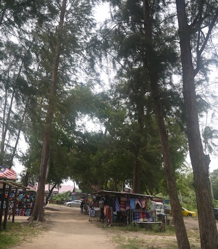 Cherating beach stalls