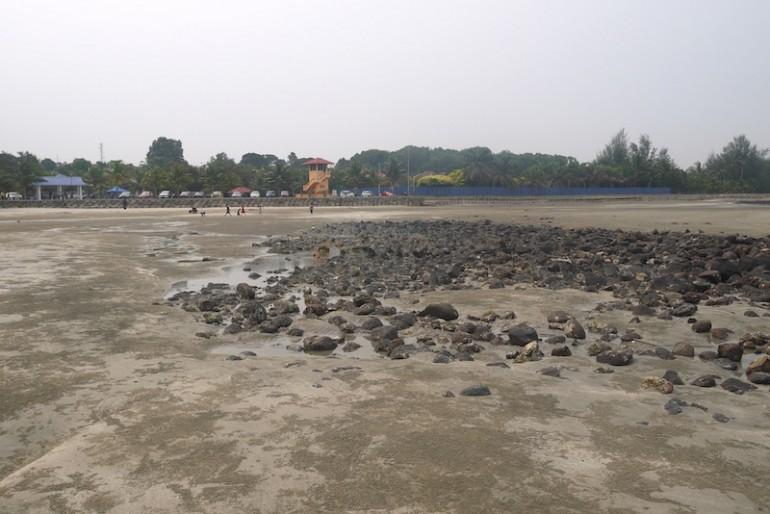 Pantai Batu Hitam rocky shore