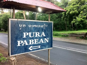 the road sign for Pura Pabean
