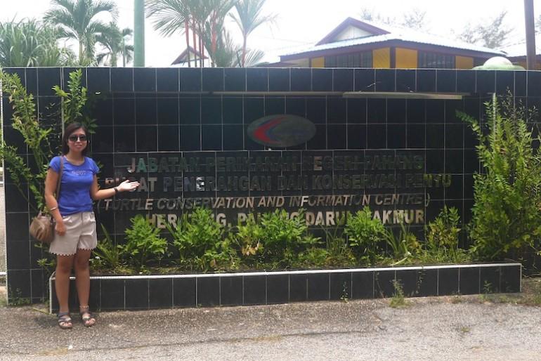 At Cherating Turtle Sanctuary Main Entrance