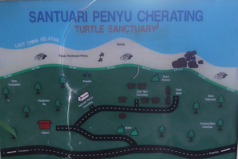 Cherating turtle sanctuary map