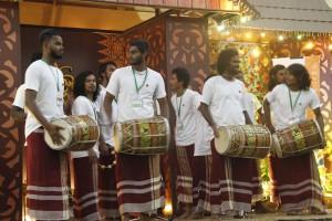 Harubee drumming at Kuching's Merdeka Plaza shopping mall