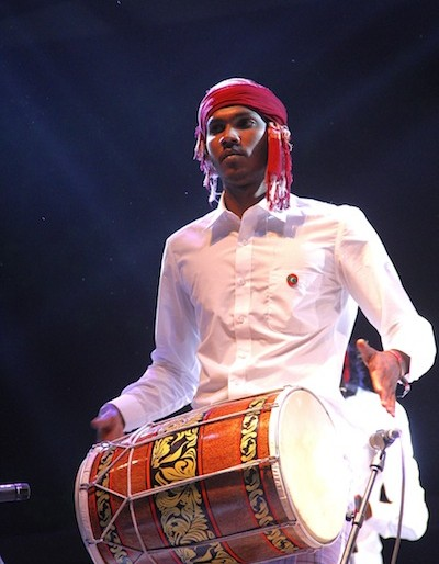 Harubee drummer at the Rainforest World Music Festival 2015