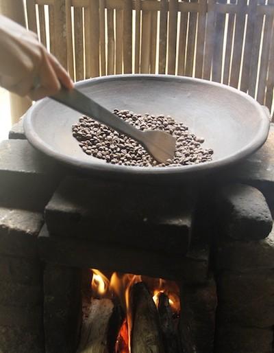 roasting Kopi Luwak