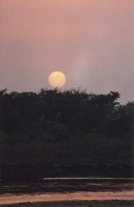 Sunset at Sauraha