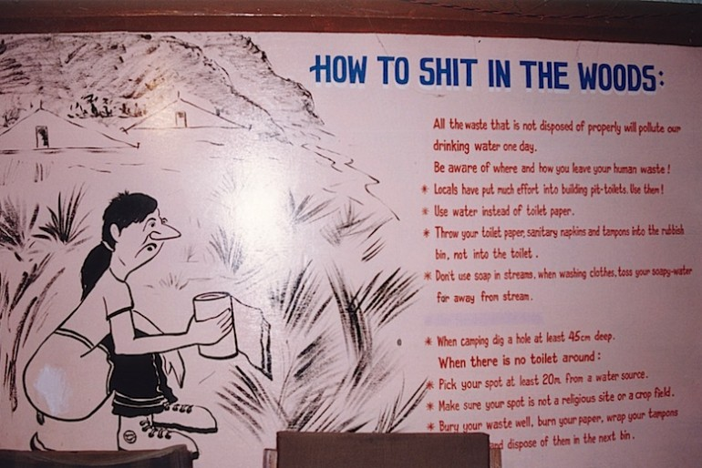 how to shit in the wood