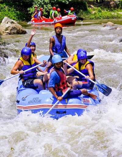 Rafting in Phang Nga was a wet affair