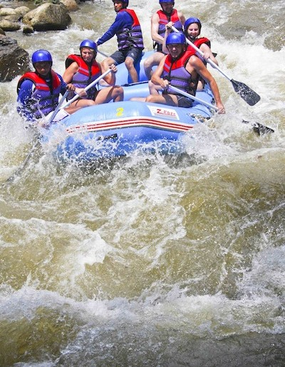 Rafting in Phang Nga raging waters