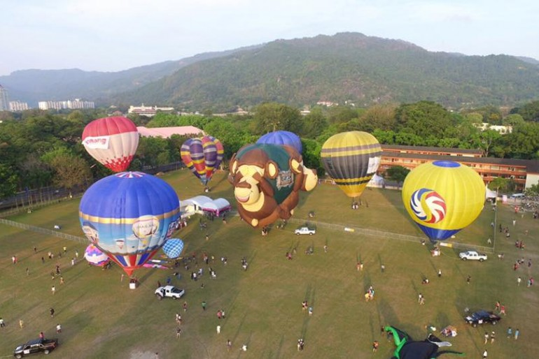 Arial picture of Penang Hot Air Balloon Fiesta