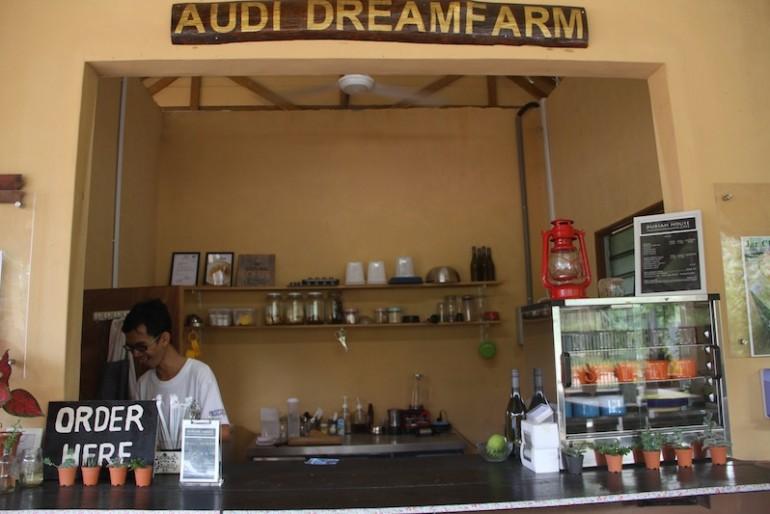 Eddi making coffee