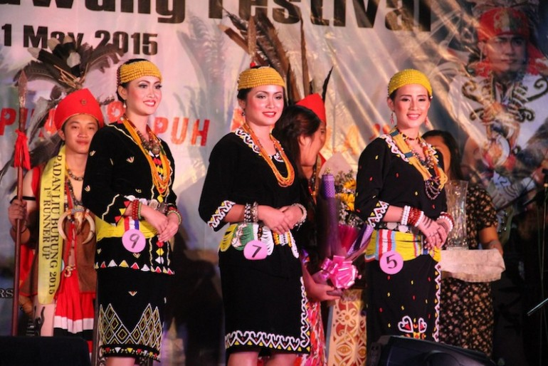 Ruran Ulung 2015 Top 3 finalist before the prize giving held in Long Tuan, Trusan, Lawas.