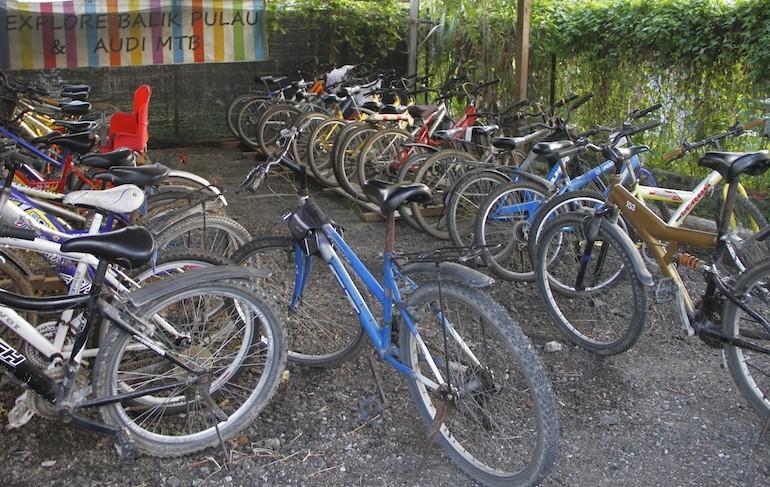 The docking station of Balik Pulao Cycling Tour