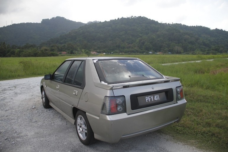 Eddie's super car at the rice fields