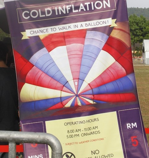 Cold inflation ticket station