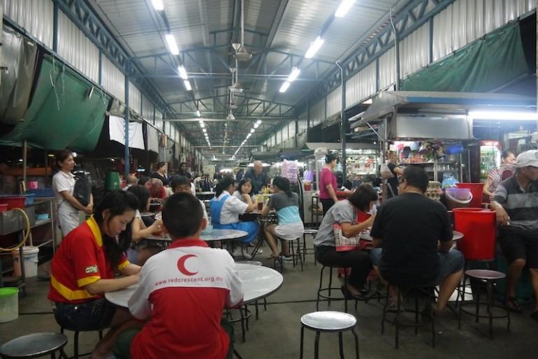 Market popular for char kueh tiaw in jalan raja uda Butterworth