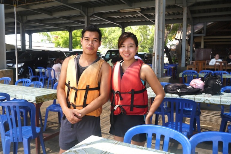 Me and Ajoy getting ready for water sports in Bali
