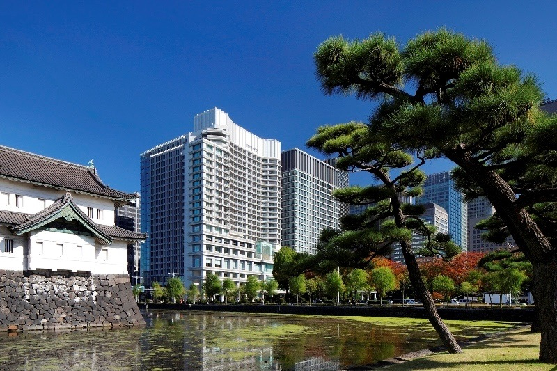 Palace Hotel Tokyo Exterior with Tatsumi Watchtower