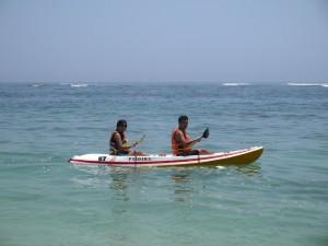Kayaking at Pantai Pandawa
