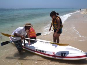 Preparing to Kayak at Pantai Pandawa