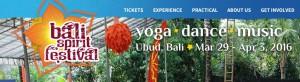 BaliSpirit Festival banner