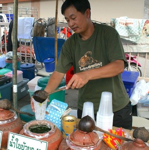 Traditional drinks for sale in Walai Road