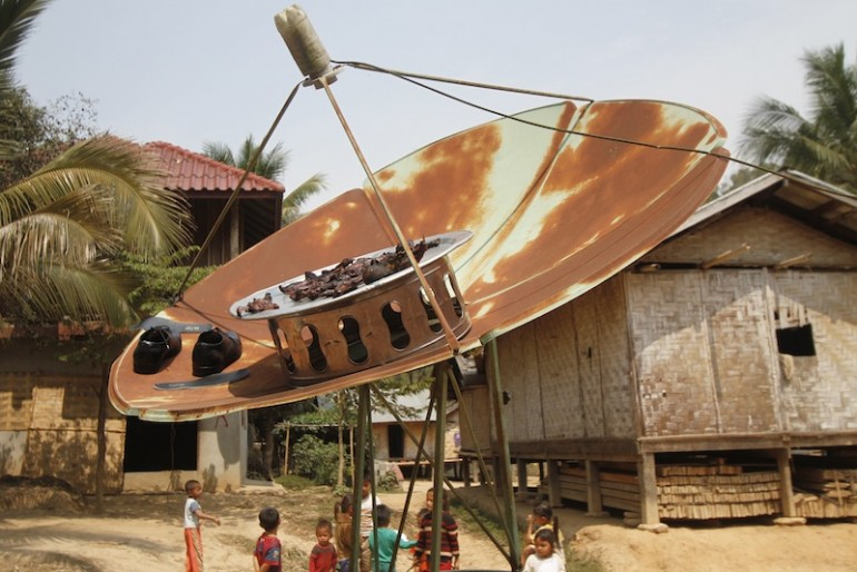 Multi purpose satellite dish at Bane Huay Palam